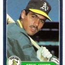 1986 Fleer Update Stan Javier Rookie, Card #U-56