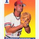 1991 Score Donovan Osborne Rookie, Card #677