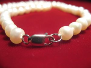 NEW sterling silver 925 Classic Cultured freshwater Pearl 18""