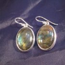 925 Silver Labradorite mineral stone earrings A
