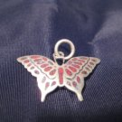 925 Silver Butterfly pendant Thailand jewelry art A
