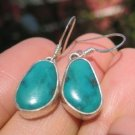 925 Silver Tibetan Turquoise earrings Nepal Jewelry A