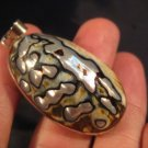 925 Silver African Turban Shell pendant Thailand  A