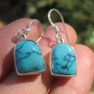 925 Silver Tibetan sky blue Turquoise earrings  A