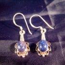 925 Silver Lapis Lazul Lazuli stone earrings Nepal  A
