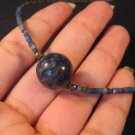 Lapis Lazuli ball pendant jade necklace stone jewelry  A