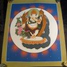 24 K gold Ganesh Ganesha Thangka Thanka painting Nepal A