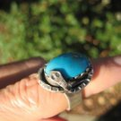 925 Silver Arizona Turquoise Ring Rattlesnake Size 6.2 A