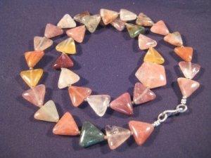 925 Silver Jasper Quartz stone necklace Afghanistan A