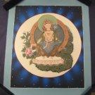 24 K Gold Cosmic White Tara Deity Thangka Thanka painting Nepal Himalyan art