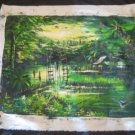 Large Green Lake Cambodia Landscape Oil painting Art A