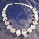 925 Silver Quartzite Quartz crystal stone Necklace A