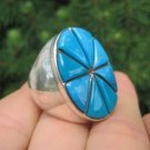 925 Silver Arizona Turquoise Ring Jewelry Size 9 A