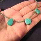 Natural Tibetan Turquoise crystal Necklace   A