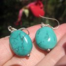 925 Silver Tibetan Turquoise earrings jewelry Thailand A