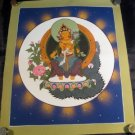 24 K gold Manjusri Manjushri Thangka painting Nepal A