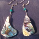 925 Silver Mother of Pearl shell earrings A