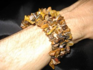 Tiger Eye Chip bead bracelet natural stone jewelry A