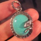 925 Silver Arizona Turquoise rattlesnake Pendant A