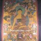 Lg Shakyamuni Buddha Thangka Thanka Painting Nepal    A