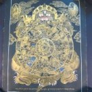 24 K Gold Wheel Of Life Thangka Thanka Painting Nepal A