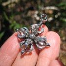 925 Silver Viswa Vajra Dorje pendant Necklace Himalayan jewelry art
