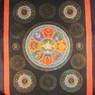24 K Gold Stupa Nine Symbol Mandala Thangka Thanka painting Nepal Himalayan Art