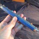 925 Silver Lapis Lazul Lazuli Crystal stone Chakra Healing Stick Wand Nepal T A2