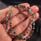 925 Silver tourmaline crystal stone bracelet Afghanistan jewelry art