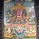 24 K  Precision Purple Buddha Thangka Thangka Painting Nepal Himalayan Art