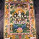 24 K Gold White Tara Dragon Thangka Thanka paintng Nepal Himalayan Art