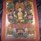 Large Chenrezig Chengrezi Thangka Thanka Painting Nepal Bodhisattva compassion