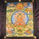 Shakyamuni Buddha Thangka Thanka Painting Nepal Art A