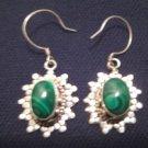 925 Silver Malachite Dangle Earring Earrings Jewelry Nepal A