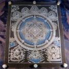 Pure Silver Kalachakra Buddha Mandala Thangka Thanka  Painting Nepal  art  A