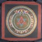24 K Gold Ohm Star Mandala Thangka Thanka painting Nepal Himalayan Art A2