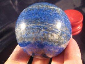 Lapis Lazul Lazuli Crystal Ball Mineral Art carving A5