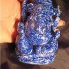 Lapis Lazul Lazuli Ganesh Deity Crystal Stone mineral rock carving Nepal art