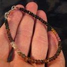 925 Silver tourmaline crystal stone bracelet Afghanistan jewelry art A3 T