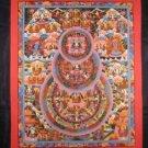 Mixed Gold Shakyamuni Buddha Mandala Thangka Thanka Painting Nepal