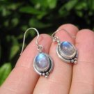 925 Silver Moonstone pair Earrings Earring jewelry Nepal himalayan art A4