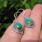 925 Silver Tibetan Turquoise Earrings Earring jewelry Nepal himalayan art A6