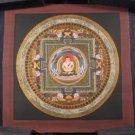 Small  24 K gold Shakyamini Buddha Thangka Thanka Mandala Painting Nepal Art