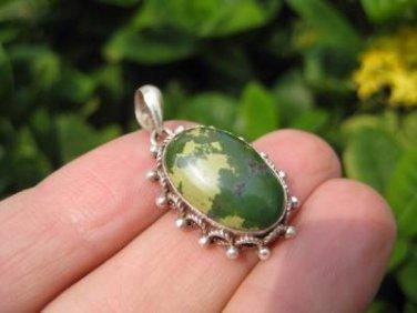 925 Silver Tibetan Turquoise stone crystal Pendant Necklace Nepal Jewelry Art C1