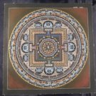 24 K Gold Silver Lakpa Lama Signed Ohm Vajra Thangka Thanka Painting Art A3