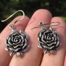 925 Silver Rose Flower Earrings Earring jewelry Cambodia art