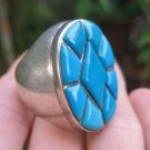 925 Silver Arizona Turquoise Ring Jewelry Size 7.75 8
