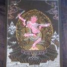 24 K gold Mahakala Thangka Thanka painting Nepal Himalayan art A4