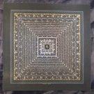 24 K Gold Lakpa Lama Signed Ohm Silver Thangka Thanka Painting Himalayan Art  A4