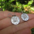925 to 999 pure Northern Hill Tribe silver crab earrings earring Thailand